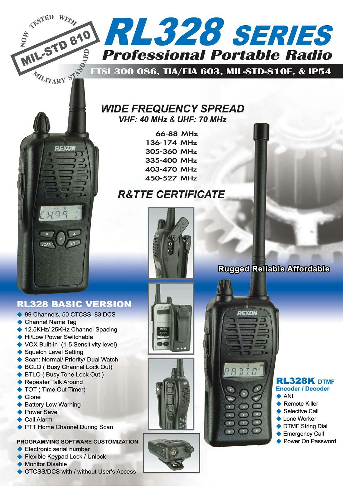 Two Way Radio And Battery Pack